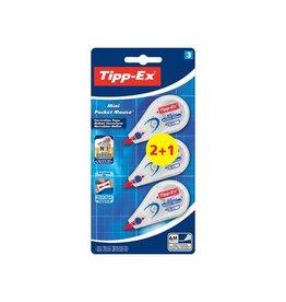 Bic Tipp-Ex correctieroller Mini Pocket Mouse, 2 + 1 gratis