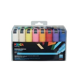 Posca Posca paintmarker PC-8K, etui met 16st in g.kl.