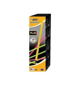 Bic Bic potlood Evolution fluo zonder gum, doos met 12 stuks