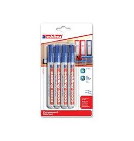 Edding Edding permanent marker 3000, blauw, blister met 4st [10st]
