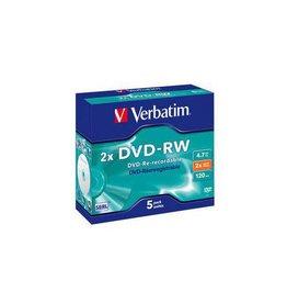 Verbatim DVD-RW Verbatim 2Xspeed Jewelcase (5)