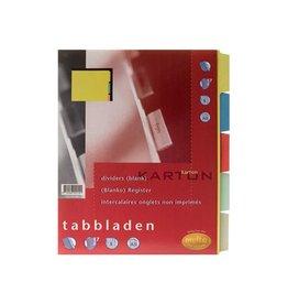 Multo Multo tabbladen ft A5, 5-delig, 17-gaat., 250 g/m² [10st]