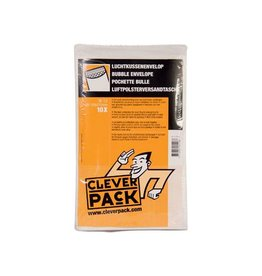 Cleverpack Cleverpack luchtkussenenveloppen, 120x215 mm, wit, 10st