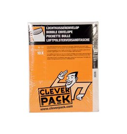 Cleverpack Cleverpack luchtkussenenveloppen, 270x360 mm, wit, 10st