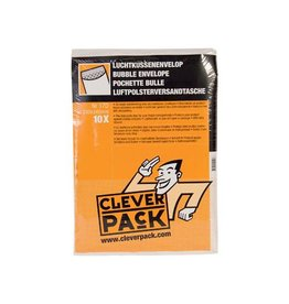 Cleverpack Cleverpack luchtkussenenveloppen, 230x340 mm, wit, 10st