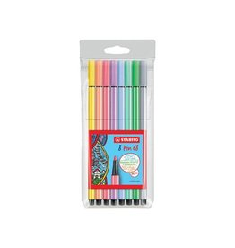 Stabilo Stabilo viltstift Pen 68, etui met 8st in g. pastel k.