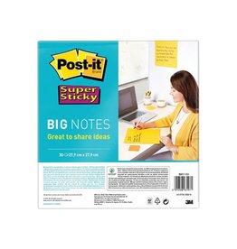 Post-It Super Sticky Post-it Super Sticky Big Notes, 28cmx28cm, 30 vel, geel
