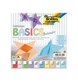Folia Folia vouwpapier Basic Intensive ft 15 x 15 cm, 50 vel