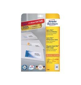 Avery Zweckform Avery witte universele etiketten 48,5x25,4mm 1000st + 200ex.