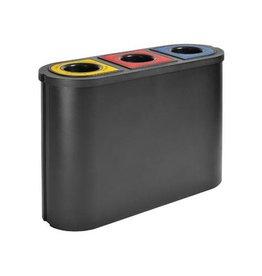 Eko Eko afvalscheider Triomf, inhoud 3x45 L, zwart