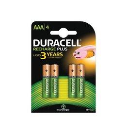 Duracell Duracell oplaadbare batterijen Recharge Plus AAA, 4st