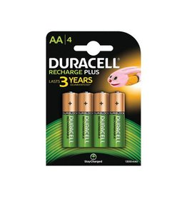 Duracell Duracell oplaadbare batterijen Recharge Plus AA, 4st