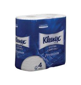 Kleenex Kleenex toiletpapier Extra Comfort, 4-l, 160vel/rol, 4rol.