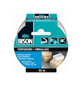 Bison Bison verpakkkingstape, ft 50 mm x 66 m, transparant