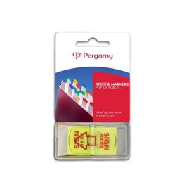 "Pergamy Pergamy 'Pop up vlag' pijl ""sign here"",45 x 25 mm, 50 vel"