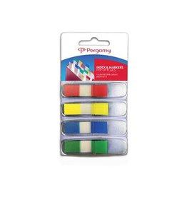 Pergamy Pergamy index 45x12mm 4 geassorteerde klassieke kleuren