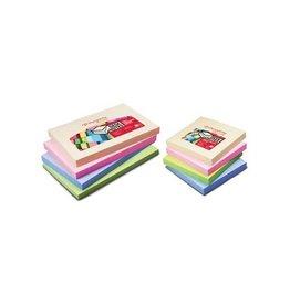 Pergamy Pergamy notes,76 x 76 mm, 4 div. pastel kleuren, 12 blokken