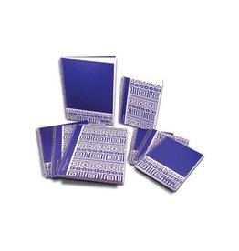 Pergamy Pergamy Ethnic notitieboek ft A5, geruit 5 mm, blauw [5st]