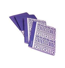 Pergamy Pergamy Ethnic schrift, A5, 5mm, 48 bladzijden, blauw [10st]