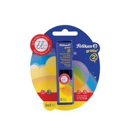 Pelikan Pelikan potloodstiften 2 mm Griffix, 2 doosjes met 3st [8st]