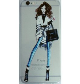 Soft-Cover für Iphone6 Frau mit Handtasche