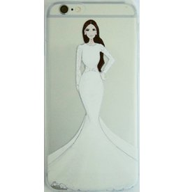 Soft-Cover für Iphone6 Frau in weißem Abendkleid