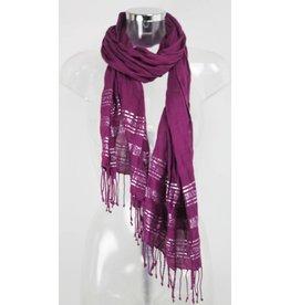 Schal violett/silber