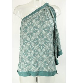 ego One-Shoulder Bluse Seide Gr. 36/38