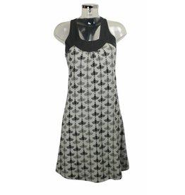 Nümph Kleid grau mit Vogelmuster Gr. M