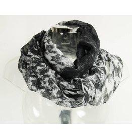 Loopschal schwarz/grau