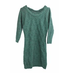 Orsay Langer Pullover/Pulloverkleid dunkelgrün Gr. 36/38