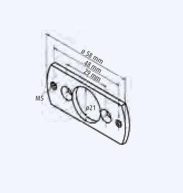 Simu Motorsteun Simu T3.5 beugel met rond gat 12 mm