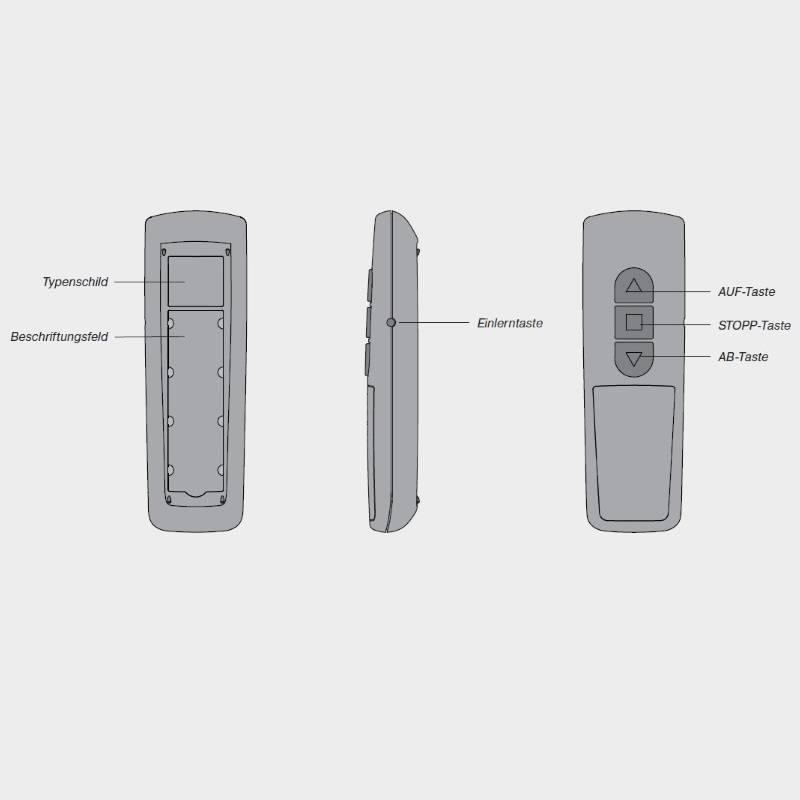 Becker Centronic EasyControl EC541-II 1-kanaals handzender