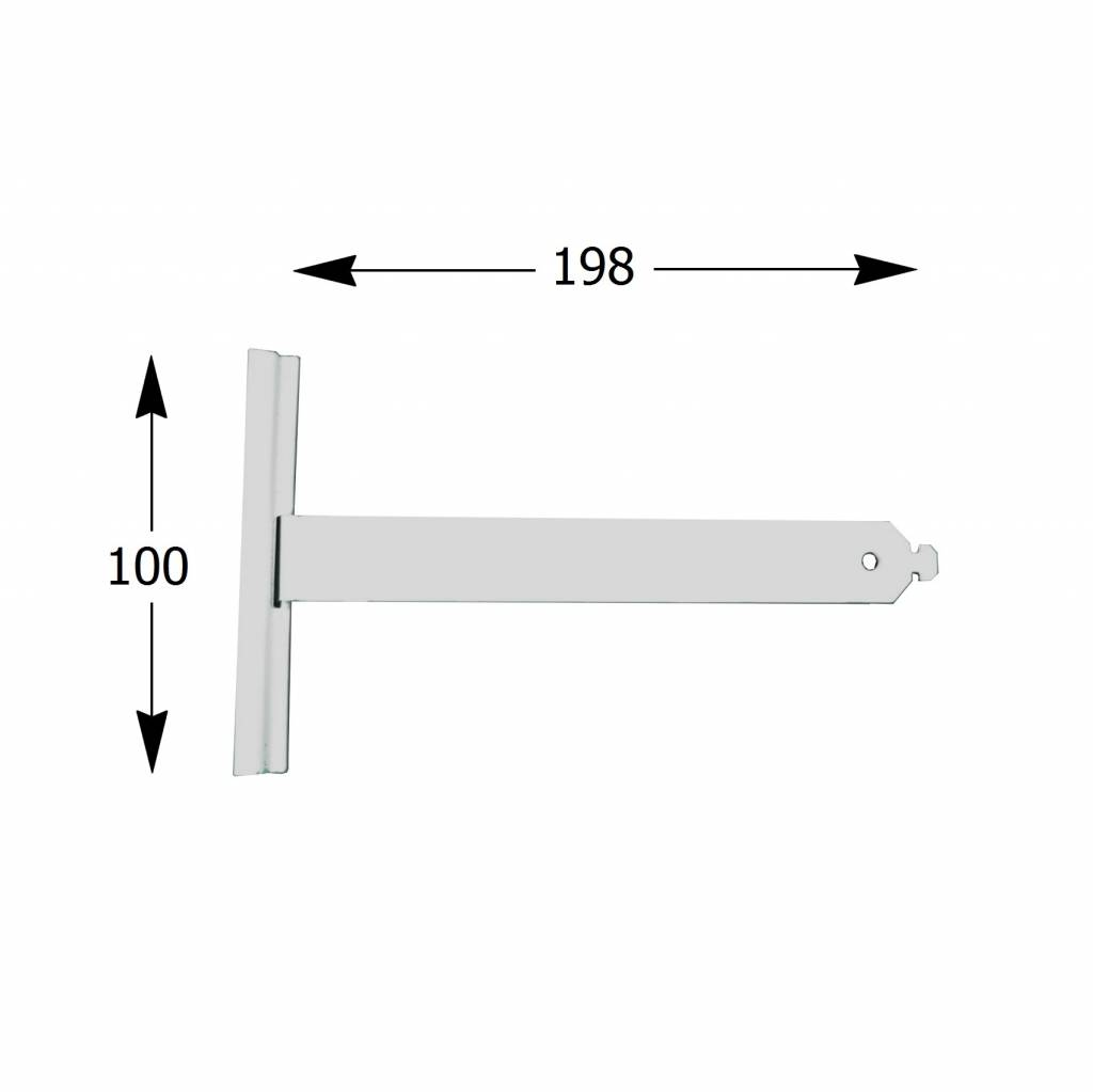Selve Ophangveer rolluik, lengte 198 mm, mini profiel