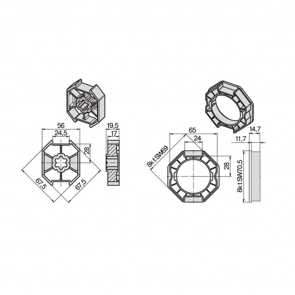 Becker Adaptieset 8k70 - R serie motoren