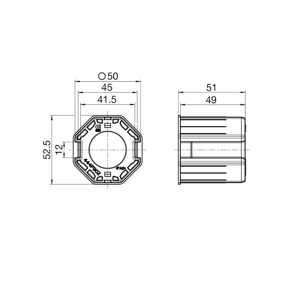 Geiger Windwerk 1:3 Geiger 8 kant 50 adaptie
