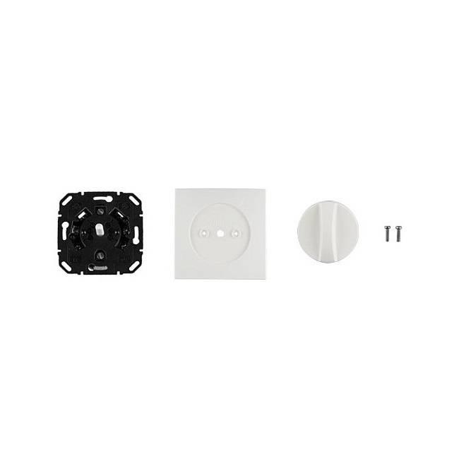 Geba Inbouw draaischakelaar KNE 2T/1 - enkelpolig - wit