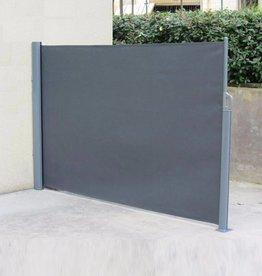Windscherm grijs doek 3,5 x 1,6 meter