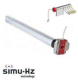 Simu T5 DMI Hz buismotor met geïntegreerde ontvanger en noodhandbediening