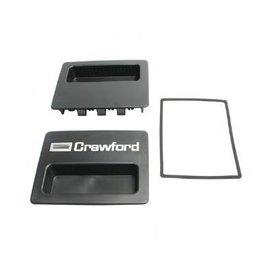 Crawford Handgreep / voetplaat Crawford 542 sectionaaldeur, met logo