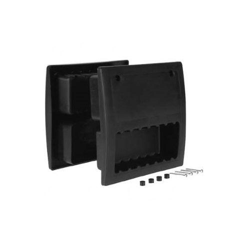 Universeel Handgreep / voetplaat voor sectionaaldeur  zwart nylon