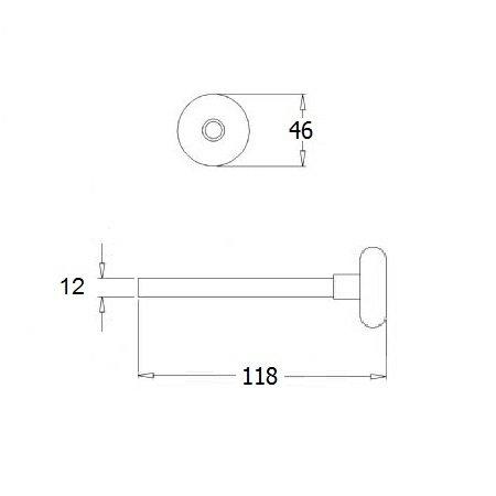 DRFX Loopwiel kort, as Ø 11 mm, lengte 118 mm