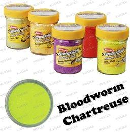 Berkley PowerBait Natural Scent Bloodworm Chartreuse