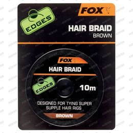 FOX EDGES Hair Braid Brown 10m