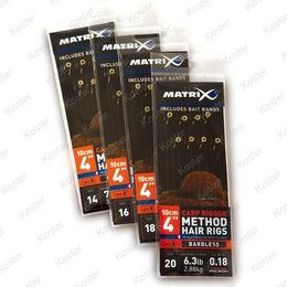 Matrix Feeder Rigger Hair Rig Barbless Bait Bands