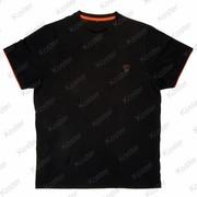 FOX Black Orange Brushed Cotton T Shirt