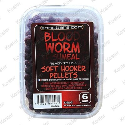 Sonubaits Soft Hooker Pellets Bloodworm FishMeal 6 mm