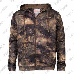 Kostra Fishouflage Thermal Hooded Full Zip Fleece Jacket