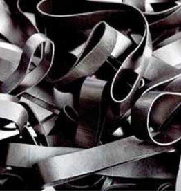 Black 01 Zwart elastiek Lengte 50 mm, Breedte 2 mm