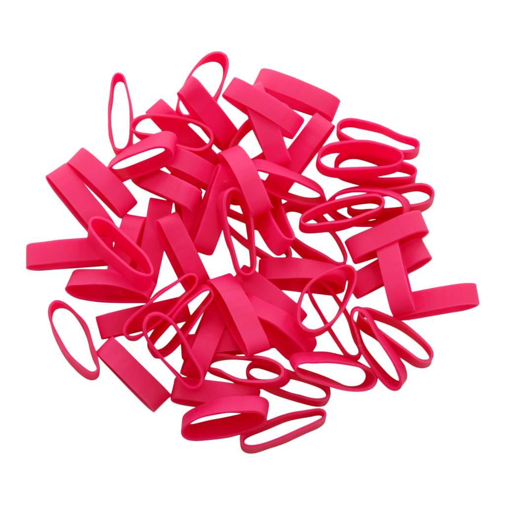 Pink 16 Rose élastique longueur 140 mm, largeur 4 mm